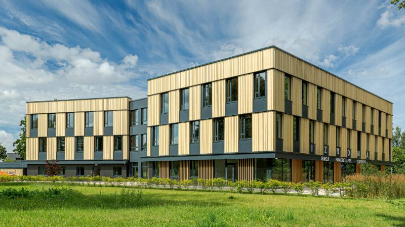 Mežaparka birojs chooses Accoya wood façade for its spectacular work space in Riga, Latvia