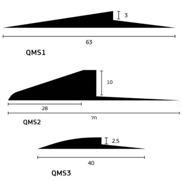 Transition Ramp Trims, Range 3 mm to 10 mm