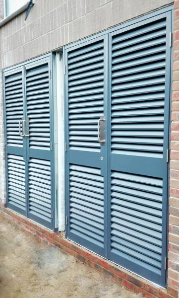 Steel Doors AD 30 Amourdoor Louvred - Double