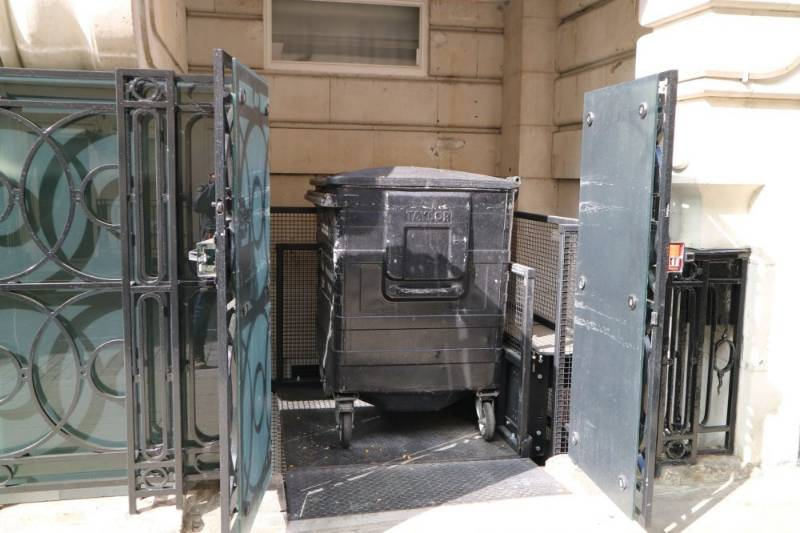 500kg goods lift in a lightwell the perfect solution for London Home