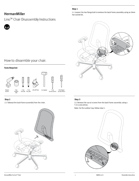 Lino Chair - Recycling Instructions