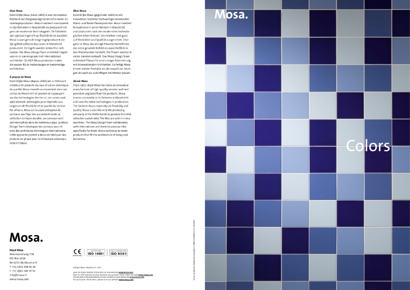 04. Mosa Colors - A source of inspiration for colourful interior design concepts