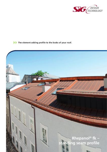FDT Rhepanol fk Single Ply Standing Seam Brochure