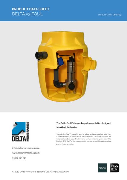 Delta V3 Foul Sump Pump
