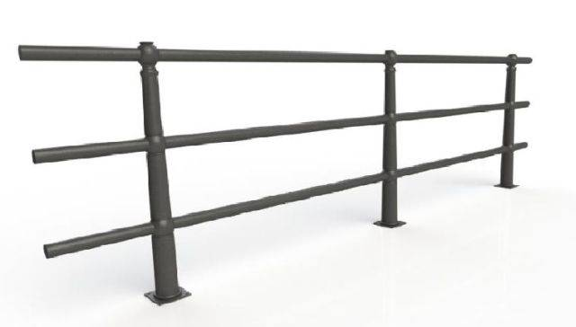 ASF 107 Cast Iron Post and Rail
