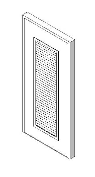 External Single Door with Louvre Panel