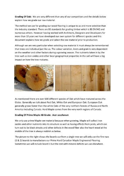 Wood Floor Grading System