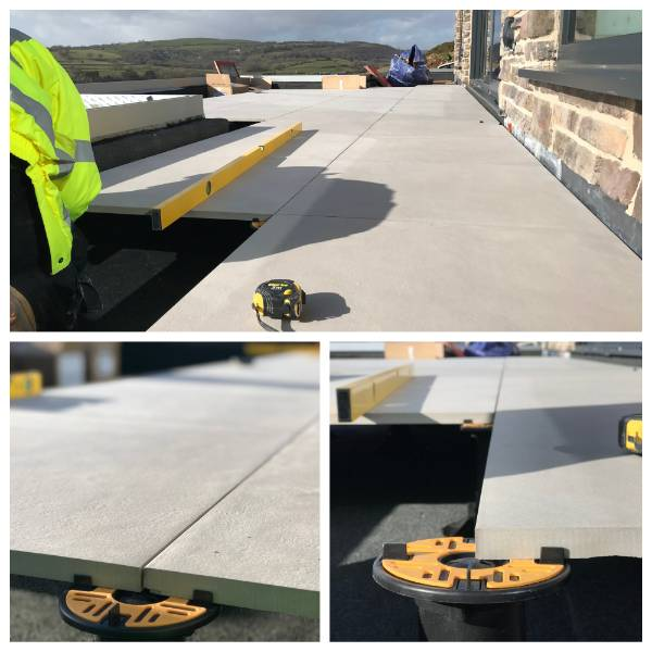 Balance self-levelling pedestals provide the solution to difficult paving scheme