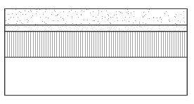 Precast concrete flags on mortar laying course, asphalt concrete base course, and type 1 sub base
