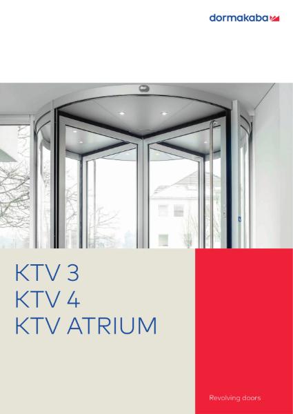 DORMA KTV-3 KTV-4 KTV-ATRIUM - Revolving Doors Varioline