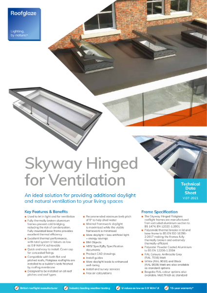 Flatglass Hinged for Ventilation