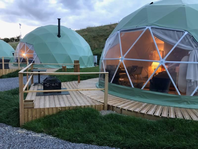 Non-Slip Decking | Luxury Geodesic Domes