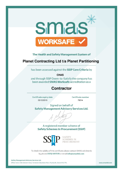 SMAS Worksafe Contractor Certificate Exp 05 12 19