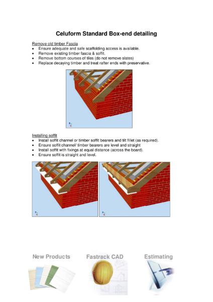 Celuform Standard Box-end detailing
