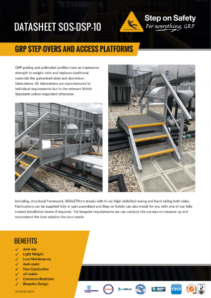 GRP Access Platforms and Step Overs