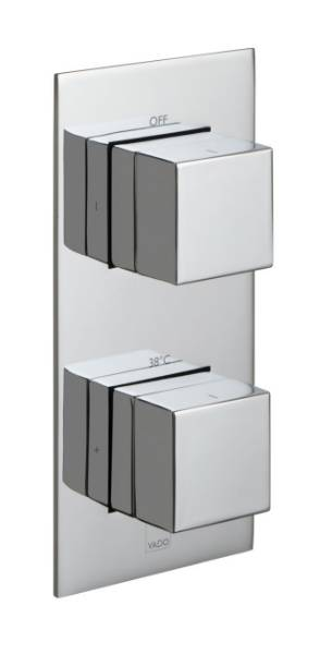 Notion Tablet Vertical 2 Outlet 2 Handle Thermostatic Valve with All-Flow