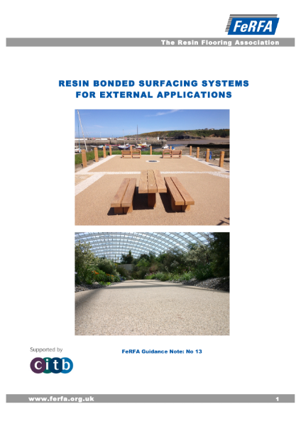 Resin Bonded - Guidance Notes External Resin Bonded Systems
