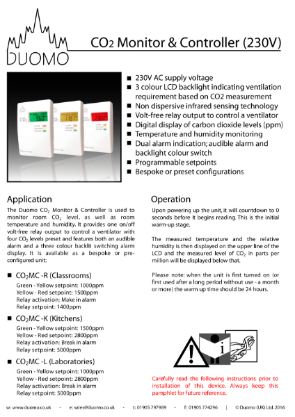 CO2MC Datasheet