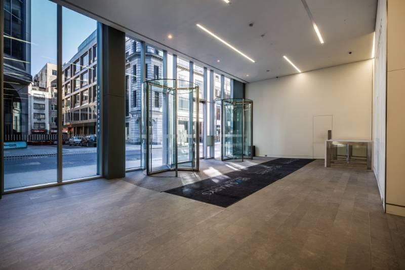 All Glass Revolving Doors at 6 Bevis Marks, London