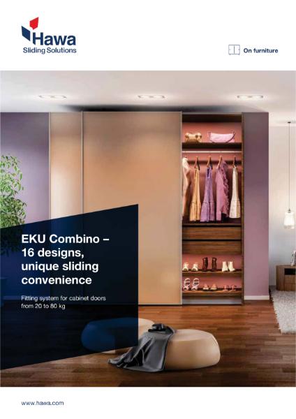 New EKU Combino sliding hardware for furniture