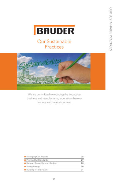 Bauder's Sustainable Practices
