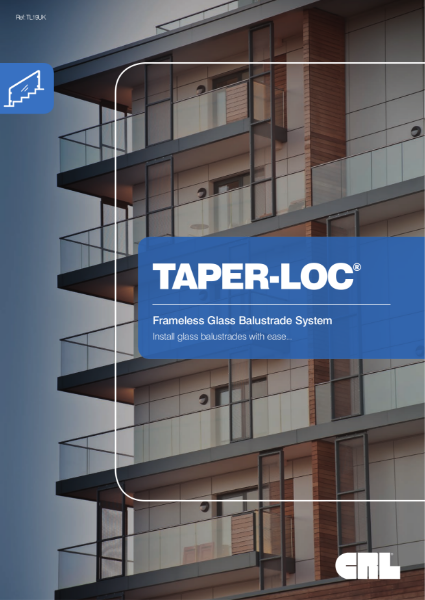 CRL Taper-Loc Frameless Glass Balustrade System