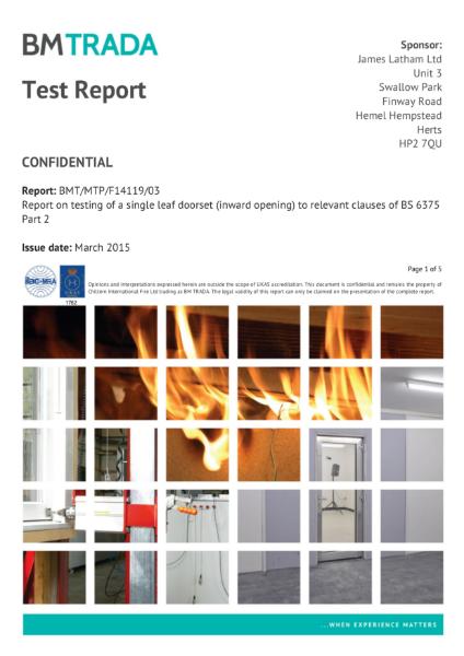 Doors - Moralt Ferro 68-98mm Test Reports PAS 24 / BS 6375 - 3 of 3