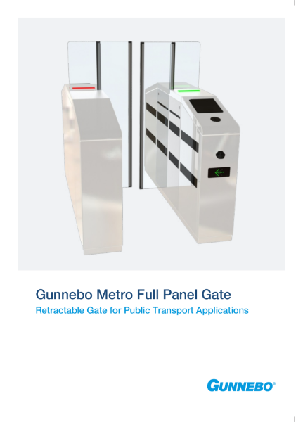 Metro Full Panel Ticketing Gate