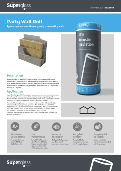 Superglass Party Wall Insulation