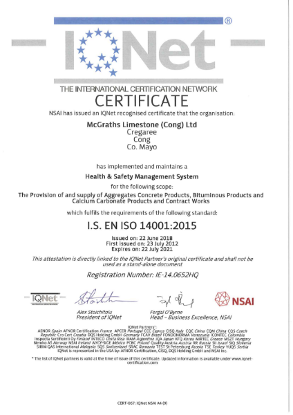 IS EN ISO14001:2015 Certification