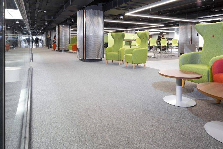 Glasgow University Library - F. Ball Products Used to Install First Class Floor