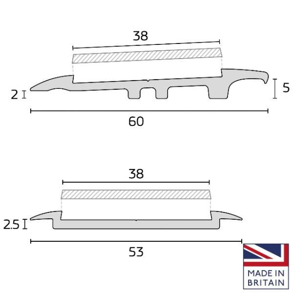 Flooring Transitions for Dementia Friendly Flooring Design - Range 2.5mm to 11mm