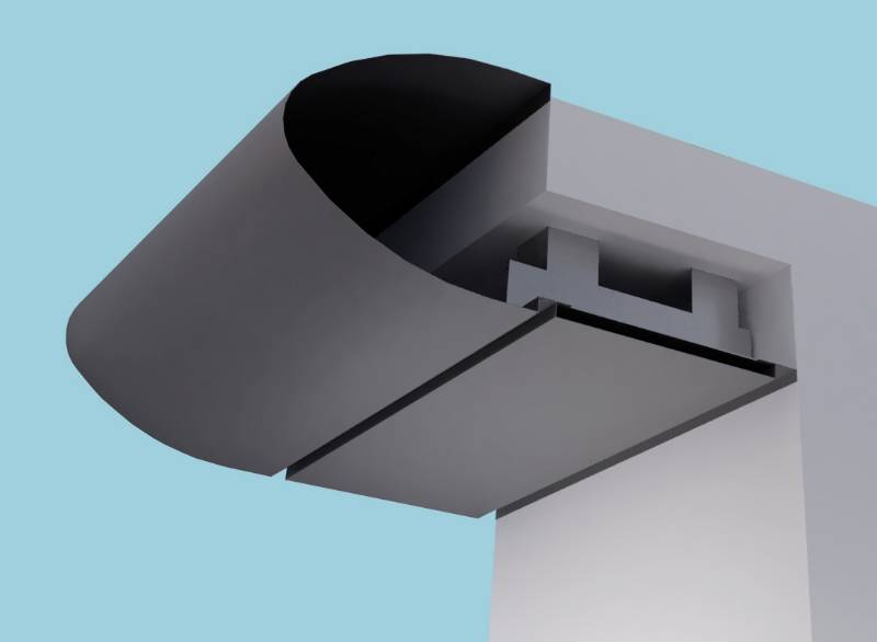 Elliptical Eaves Systems: Fascia Soffit & optional Hidden Gutter