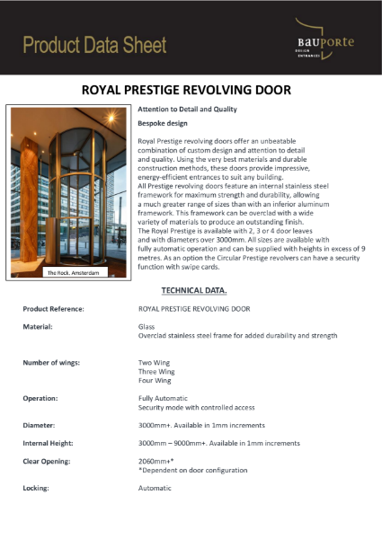 Bauporte Royal Prestige Revolving Door