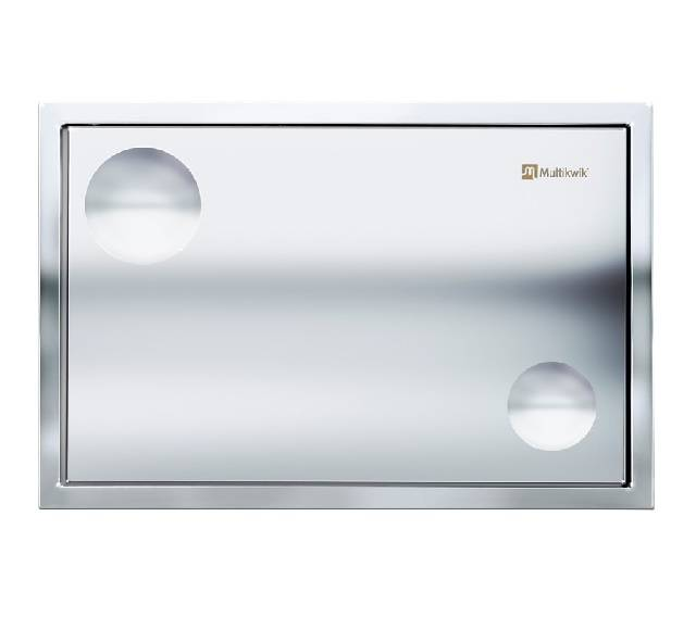 TRF0427AT Multikwik Flush Plate - Atlas Recessed (Chrome Finish)