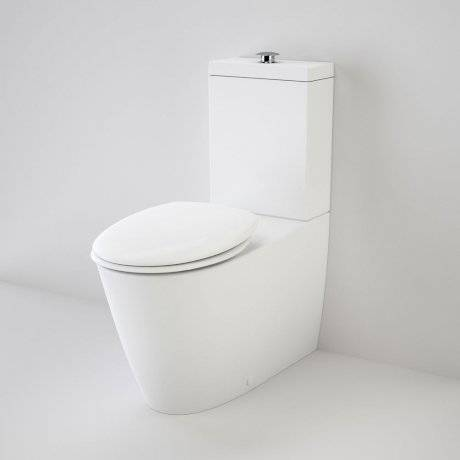 Care 800 Cleanflush Wall Faced Toilet Suite with Double Flap Seat