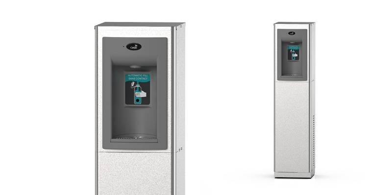 P10CPEBQY Free Standing Hands-Free Bottle Filler With QUASAR UV Out