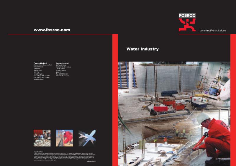 Fosroc Water Industry Brochure 2013