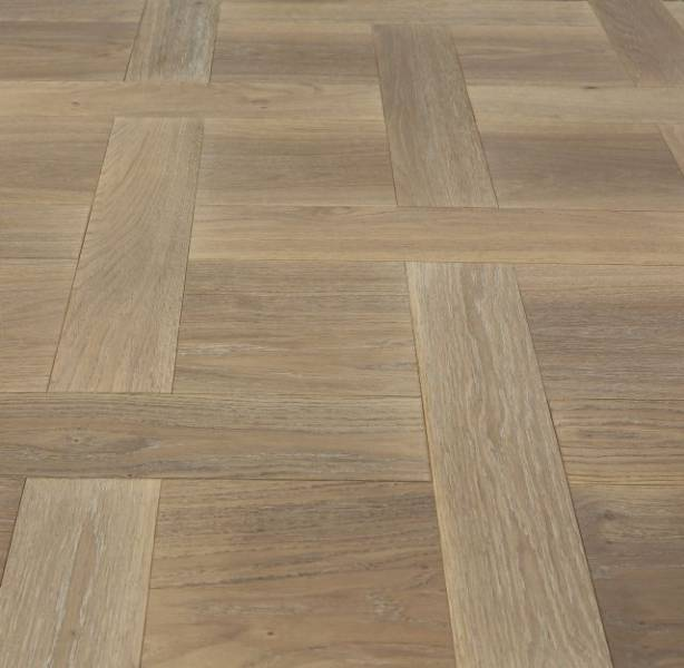 Basket Weave Herringbone Oak Parquet