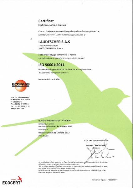 Laudescher 50001 Certificate