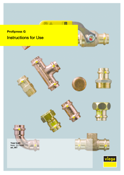 Viega Profipress G User Manual pdf