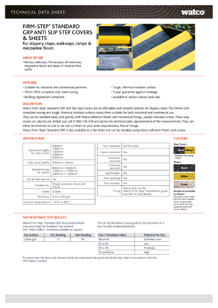 Data Sheet: Firm-Step GRP Step Covers