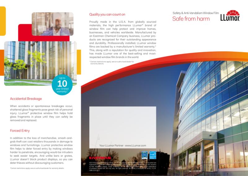 LLumar Architectural Safety Film Flyer
