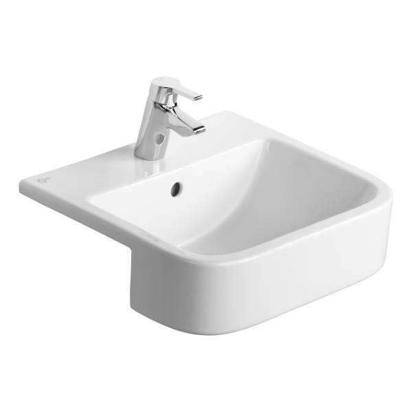 Create Square 50 cm Semi-Countertop Washbasin