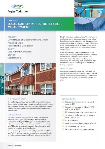 LOCAL AUTHORITY - TECTITE FLEXIBLE