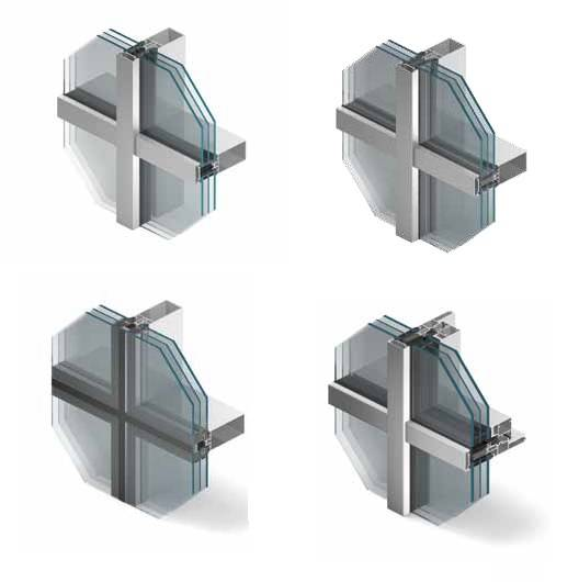Aluprof MB-SR50N - 50 mm wide Curtain Wall System
