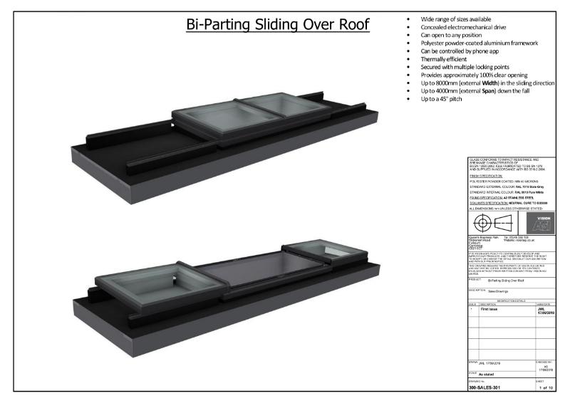 SlideOver Roof Skylight