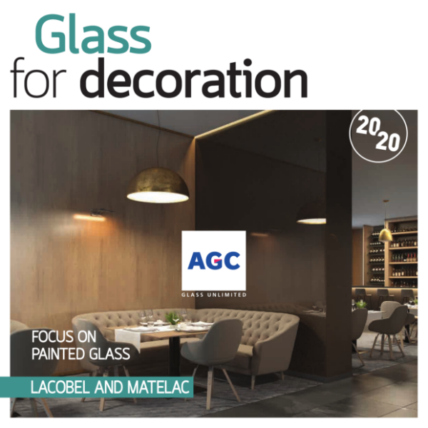 Lacobel and Matelac 2020: Glass cladding for interiors by AGC