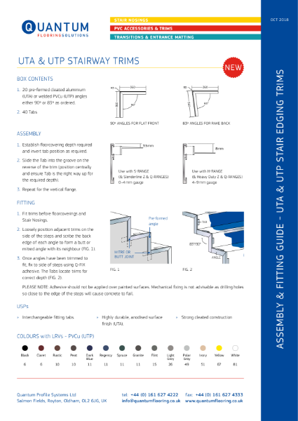 Installation Guide & Detailing Data Sheet for Stair Edging Side Trims