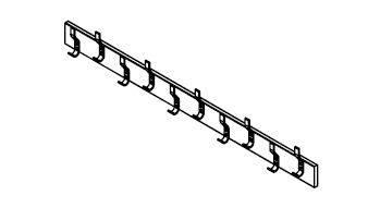 WAT Series Bag Tray Unit With Shelf-Over & Peg Rail